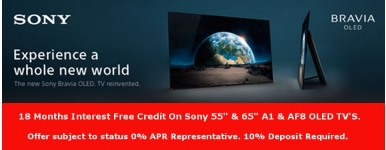 Sony 18 Month Interest Free