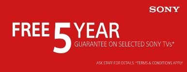 SONY TV 5 YEAR